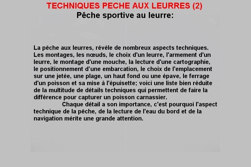 TECHNIQUES PECHE AUX LEURRES (2)